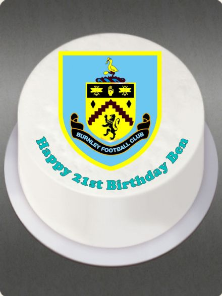 Burnley (White Background)Edible Cake Topper